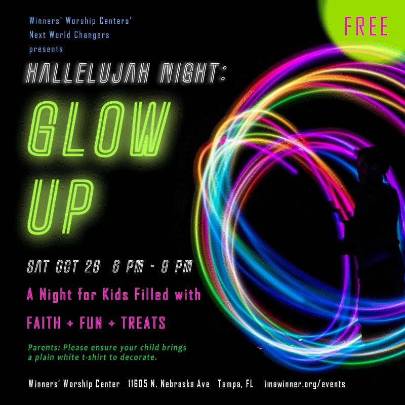 Hallelujah Night Glow Up Winners Worship Center Tampa FL